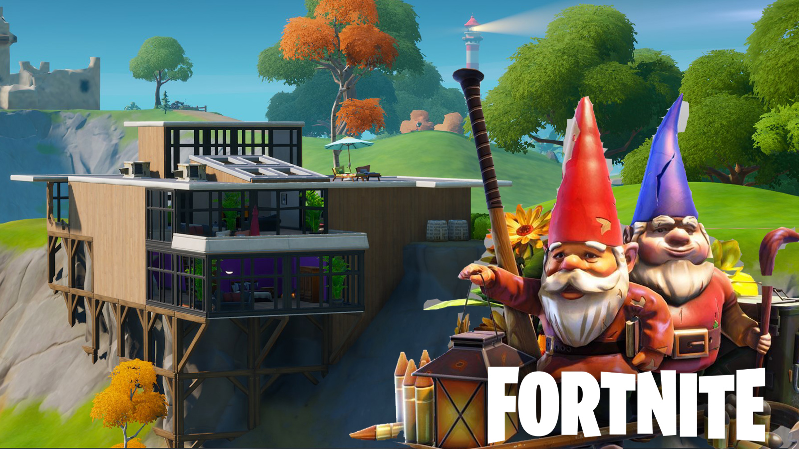 Fortnite gnomes at the Fancy View house.