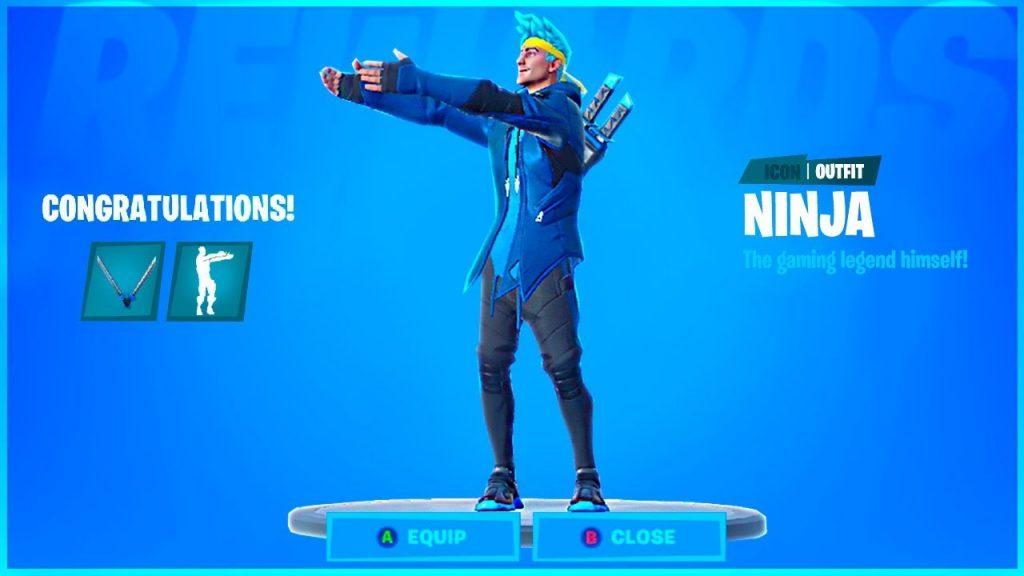 Ninja Fortnite skin also has his Pon Pon dance