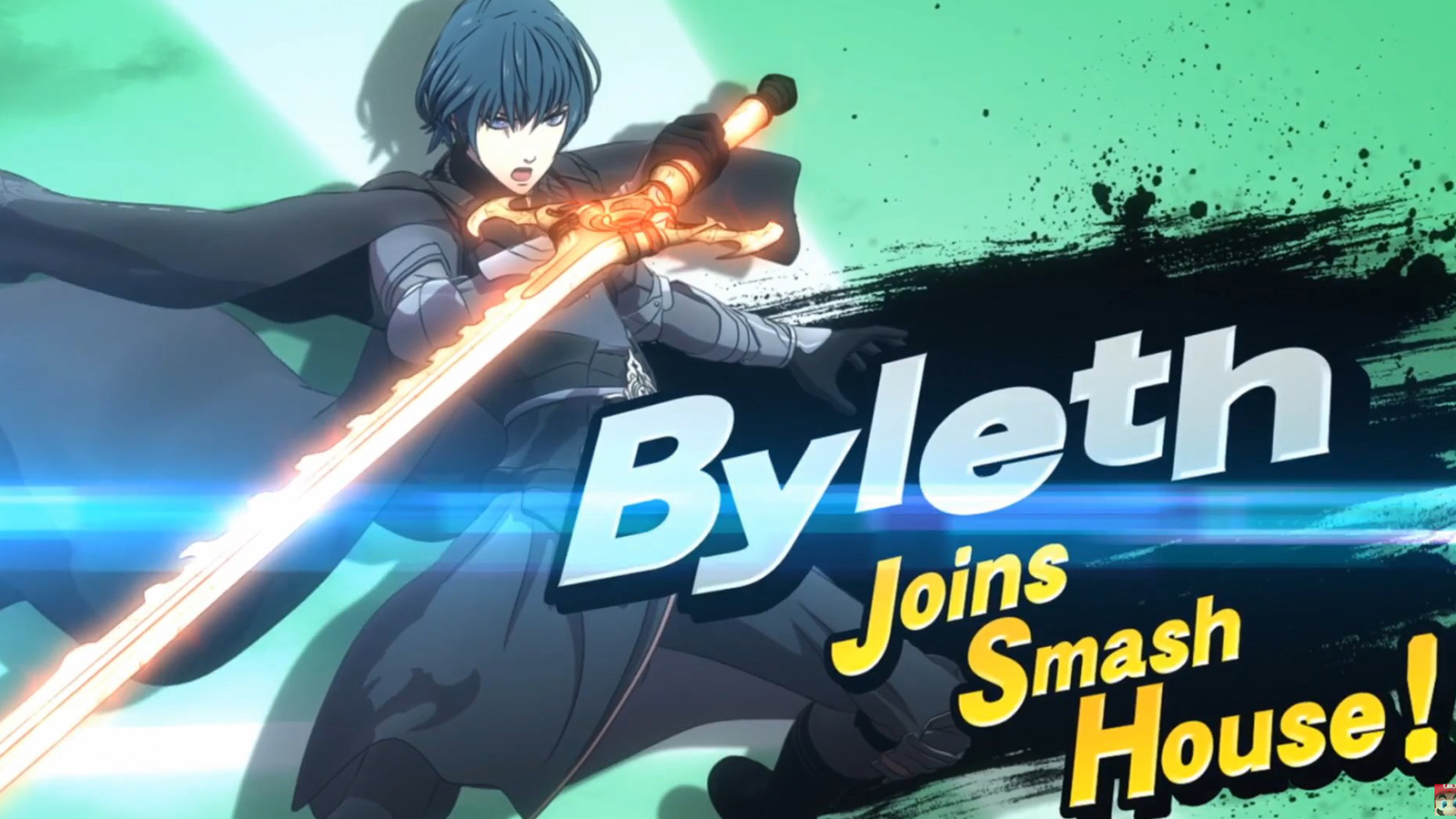 Fire Emblem's Byleth from the Super Smash Bros. Ultimate announcement.