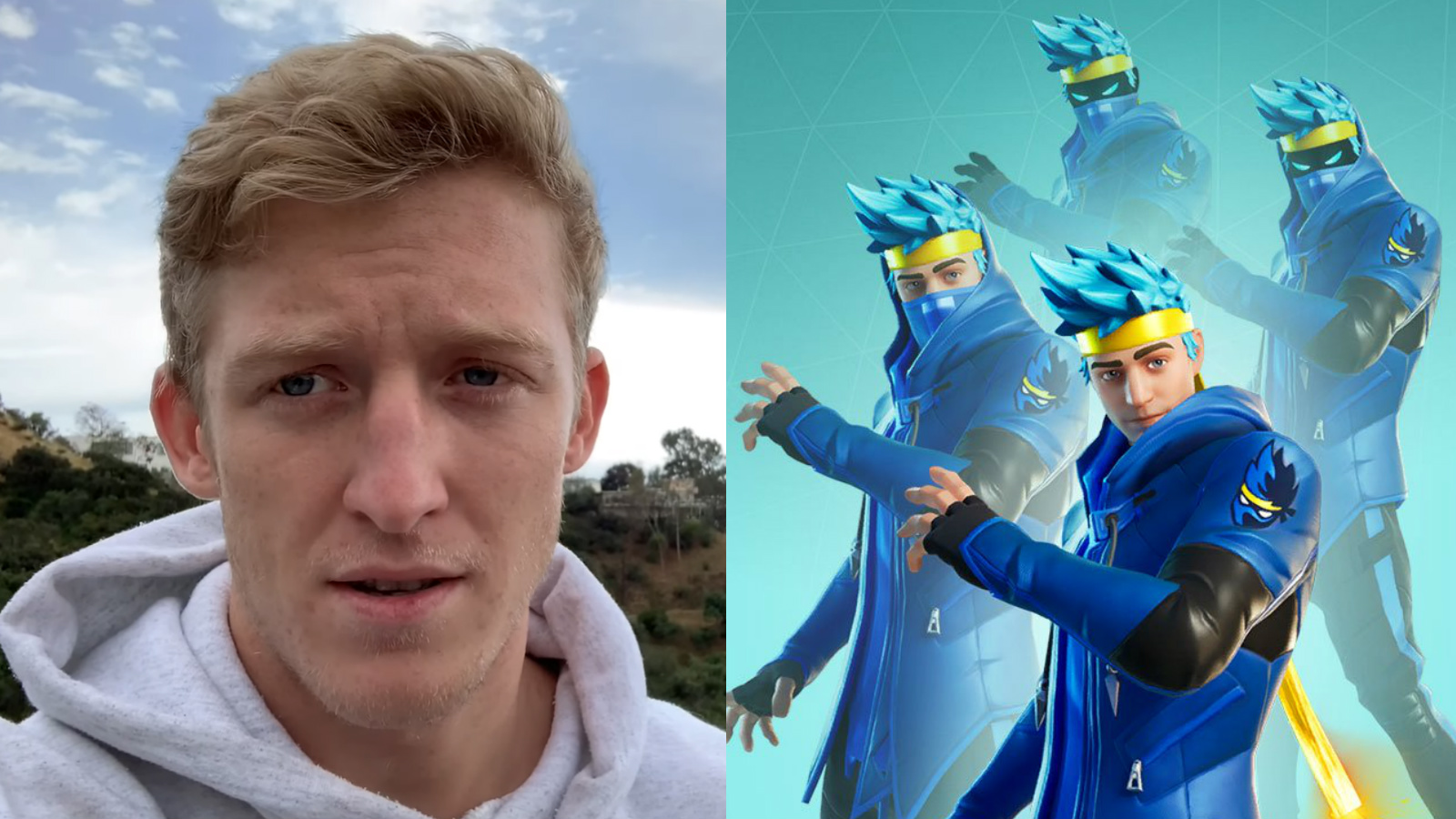 Tfue reacts Fortnite Ninja skin