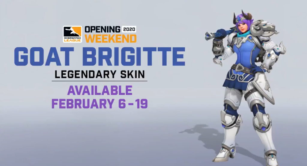 Blizzard unveils the limited edition legendary Brigitte GOAT skin to celebrate Overwatch League's opening weekend