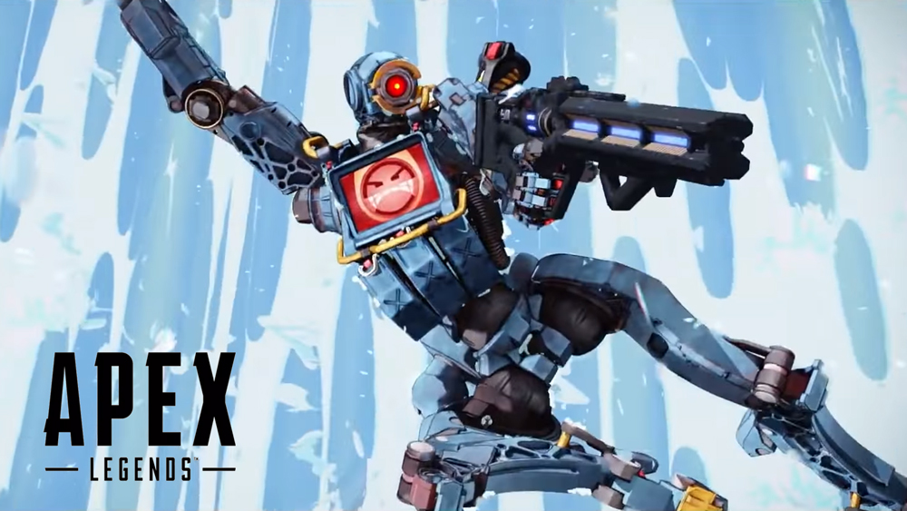Pathfinder with Havoc on Kings Canyon in Apex Legends