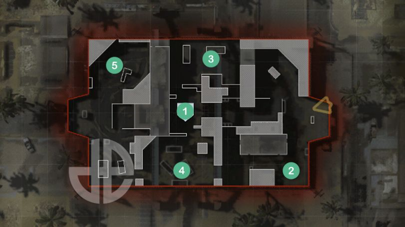 Hardpoint rotations on Shoot House in Modern Warfare