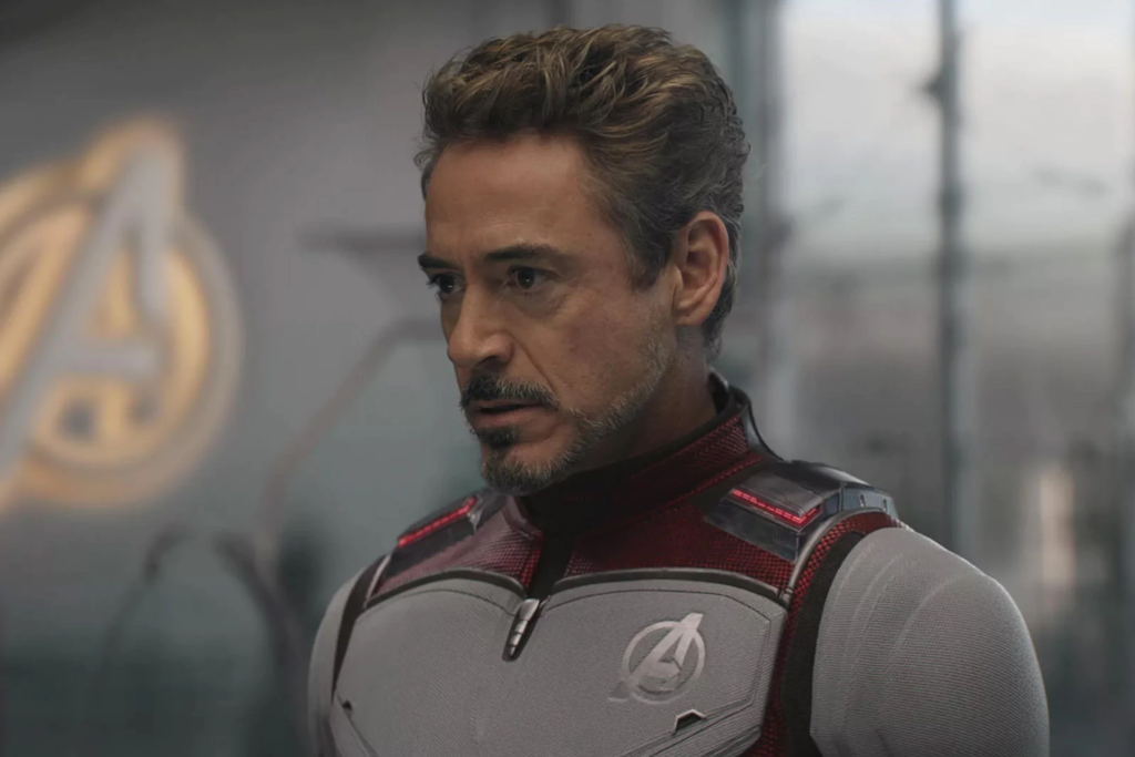 Robert Downey Jr as Iron Man in Avengers Endgame