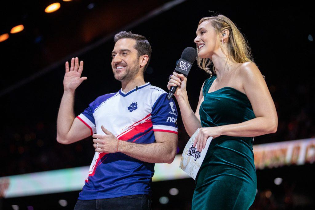 Carlos and Sjokz at the Worlds grand final