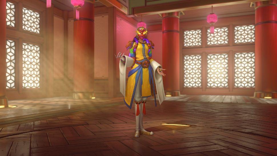 Mask Dancer Moira skin for Overwatch