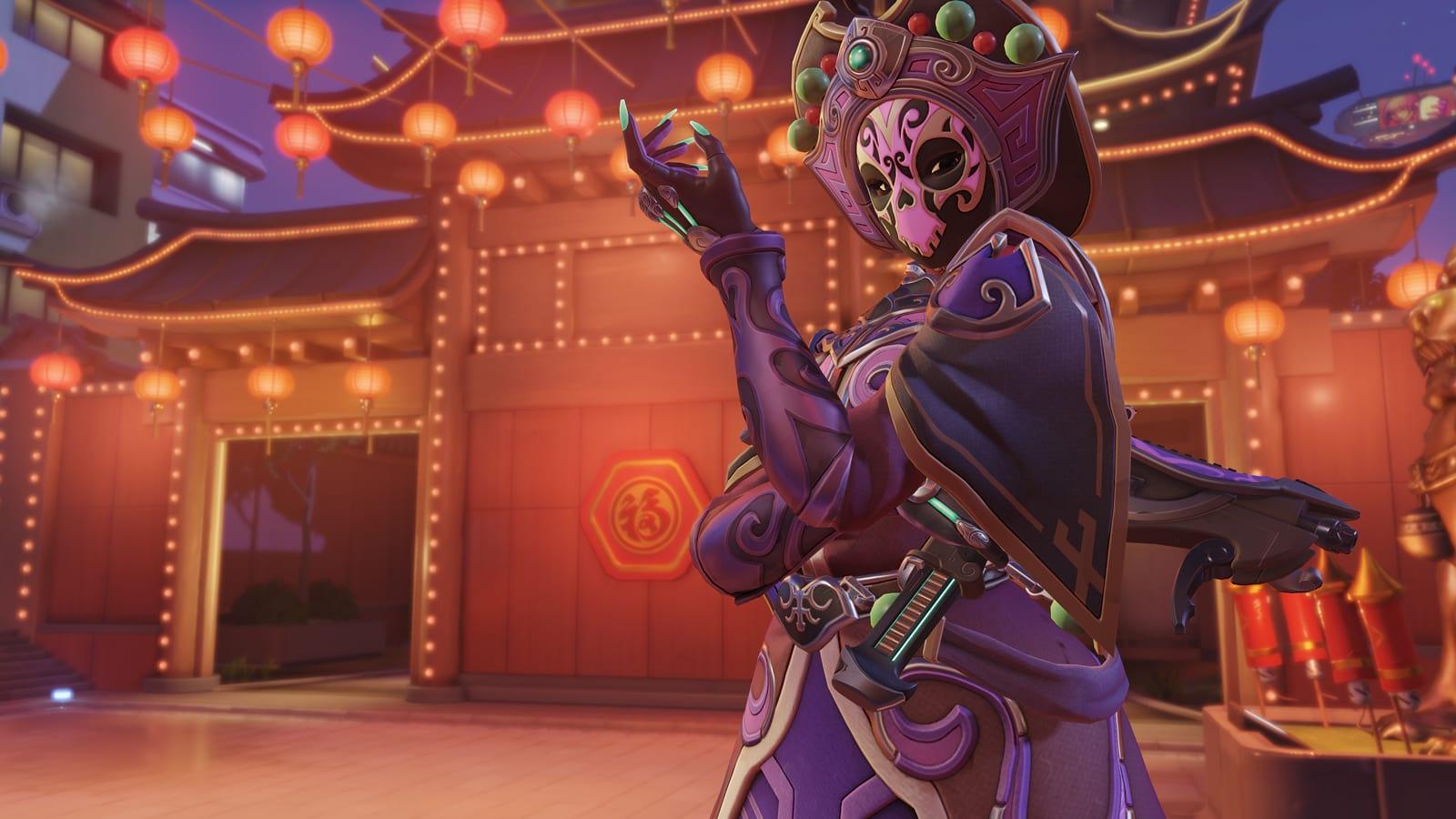Sombra Face Changer Overwatch skin