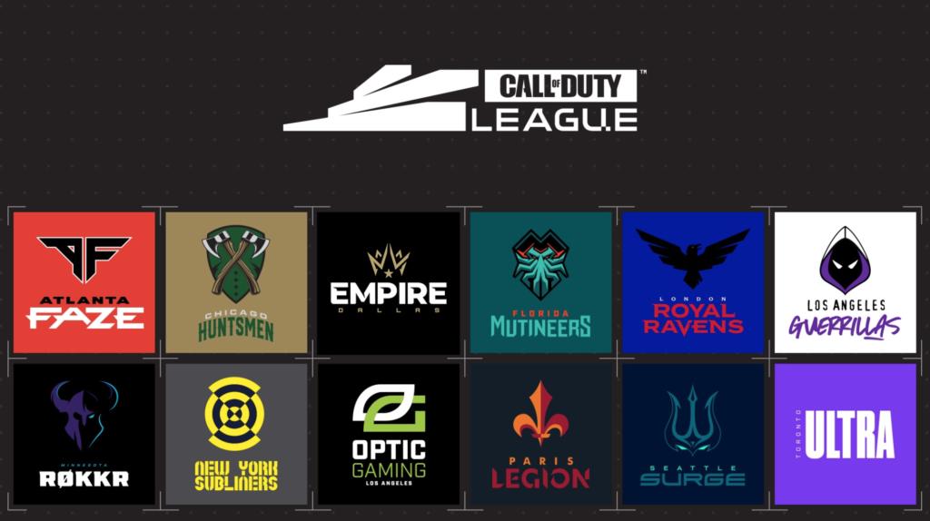 All 12 Call of Duty League teams.