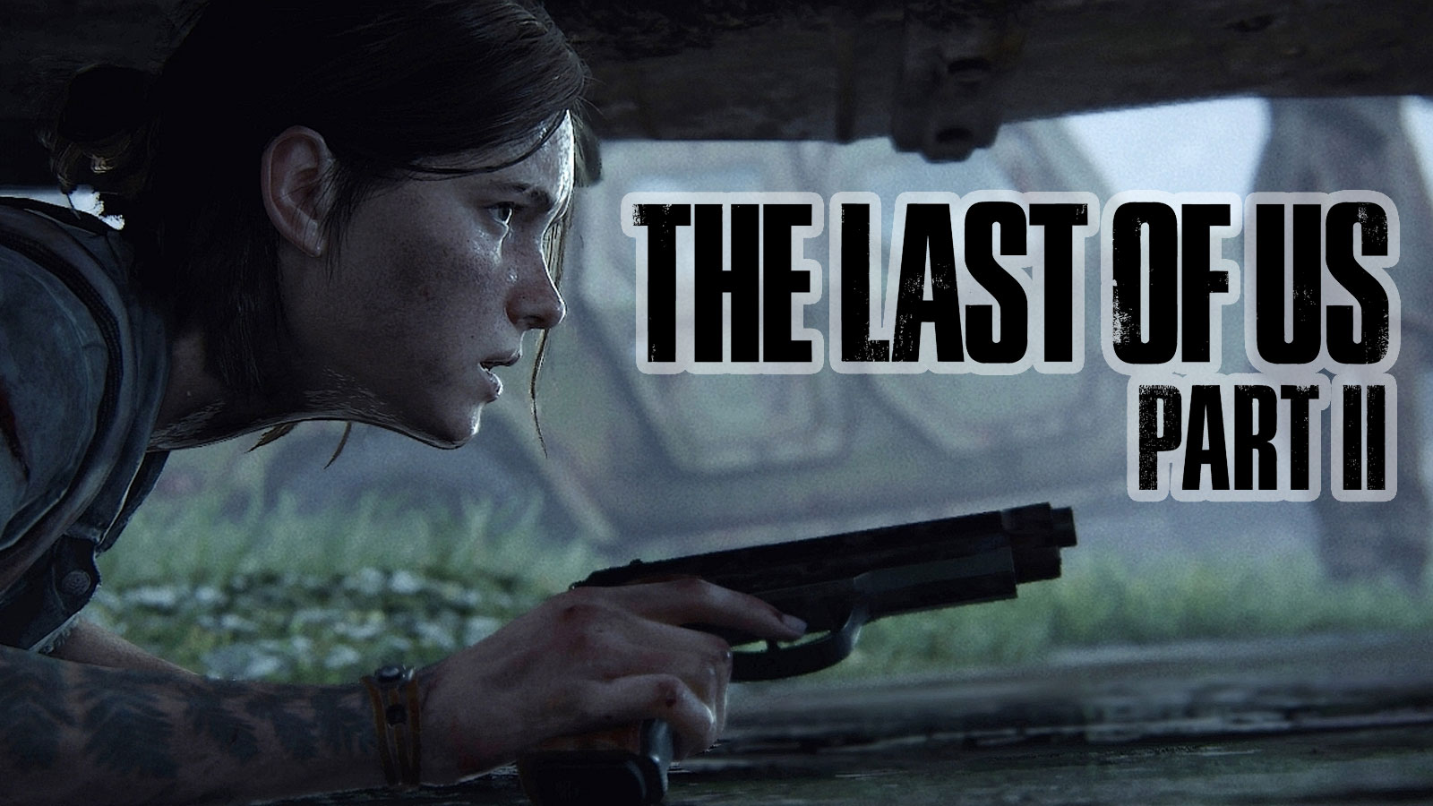 Ellie going prone in the last of us 2