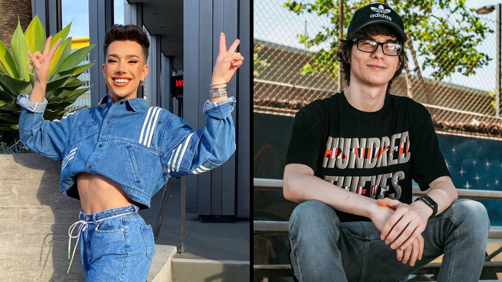James Charles poses for Instagram photo, Froste poses for 100 Thieves announcement