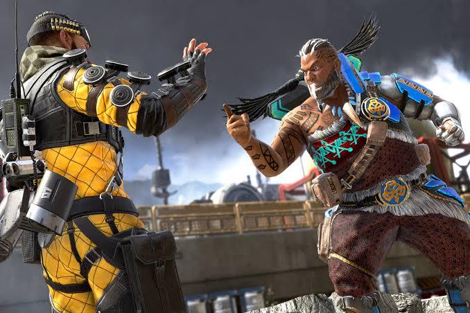 Apex Legends character arguing