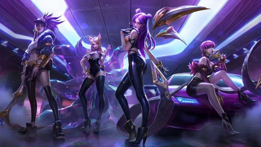 K/DA Ahri, Akali, Evelynn, and Kai'Sa from League of Legends