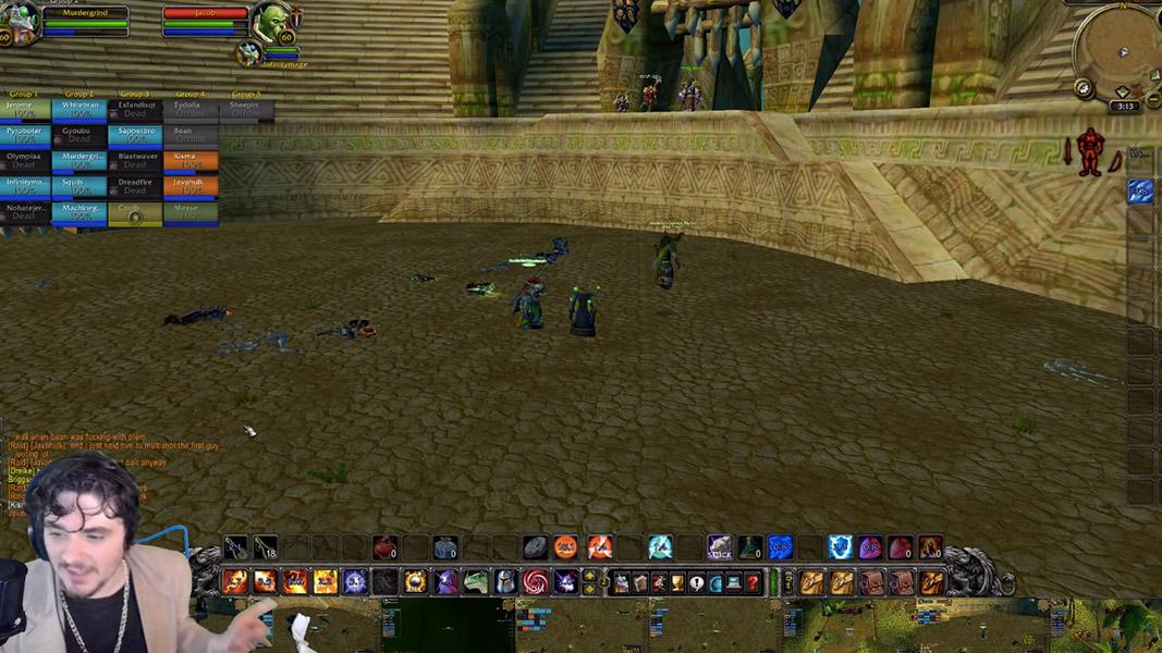Image of a man playing World of Warcraft.