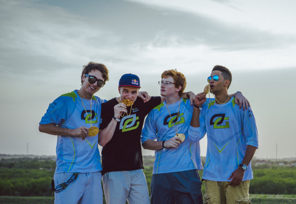 OpTic Call of Duty with X-Games gold medals.