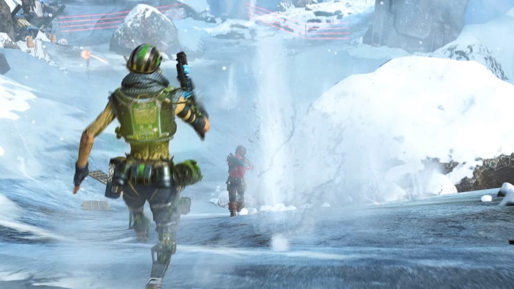 Octane in Worlds Edge on Apex legends
