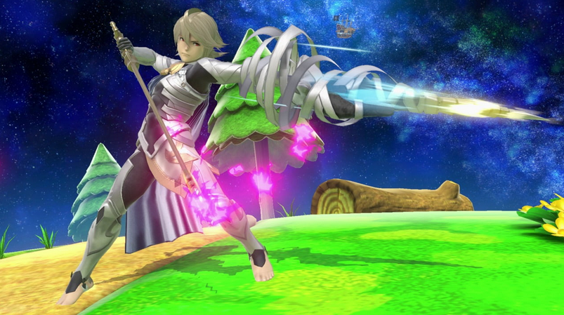 Corrin from Fire Emblem rages into battle in Smash Bros Ultimate
