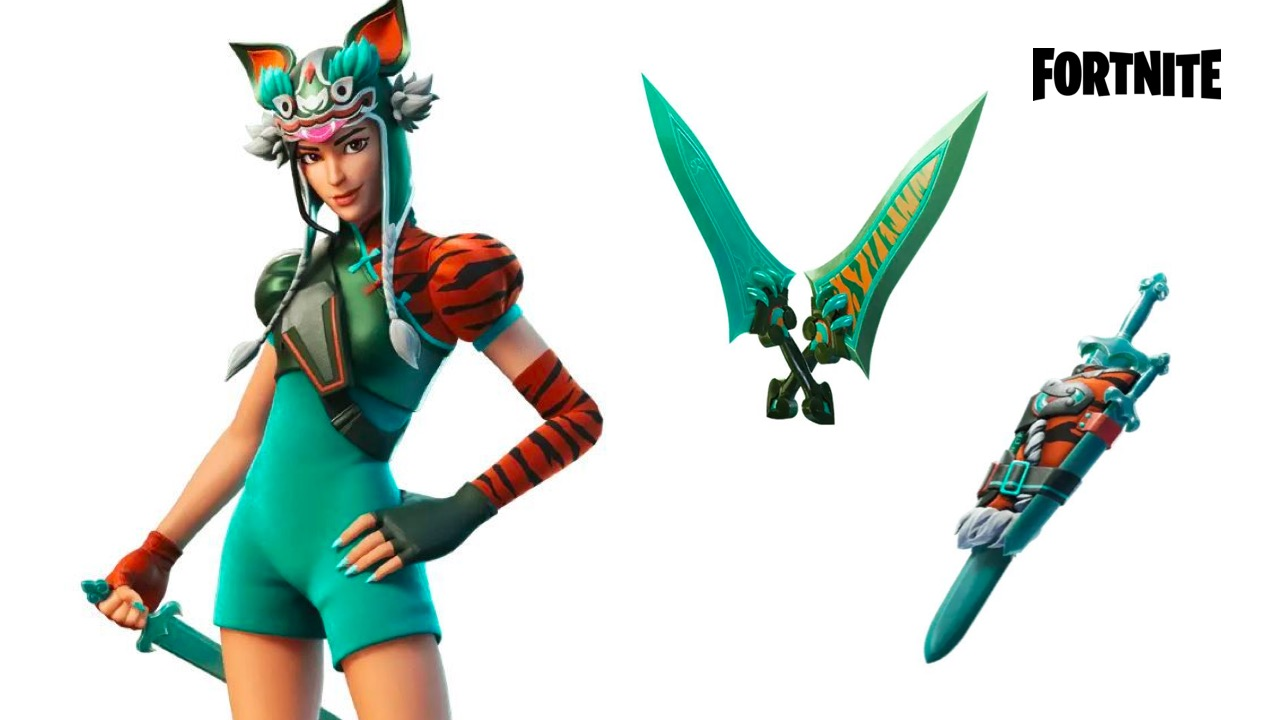 Leaked Fortnite Tigress outfit and cosmetics