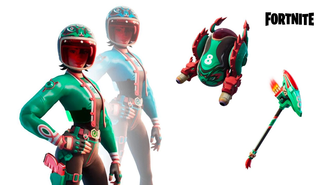 Jade Racer outfit, backbling and pickaxe leaked
