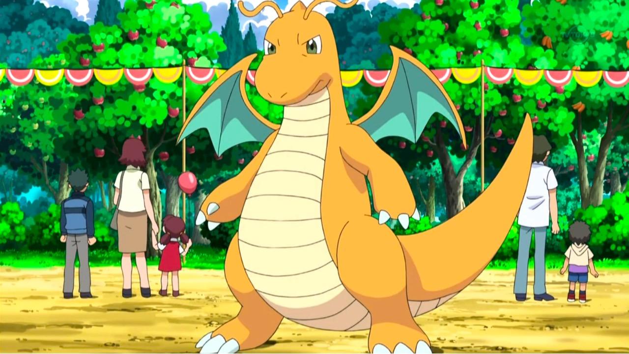 Dragonite ready for battle in Pokemon