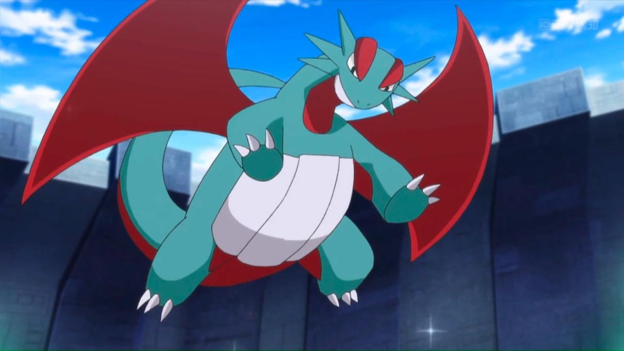 Salamence rising high in Pokemon