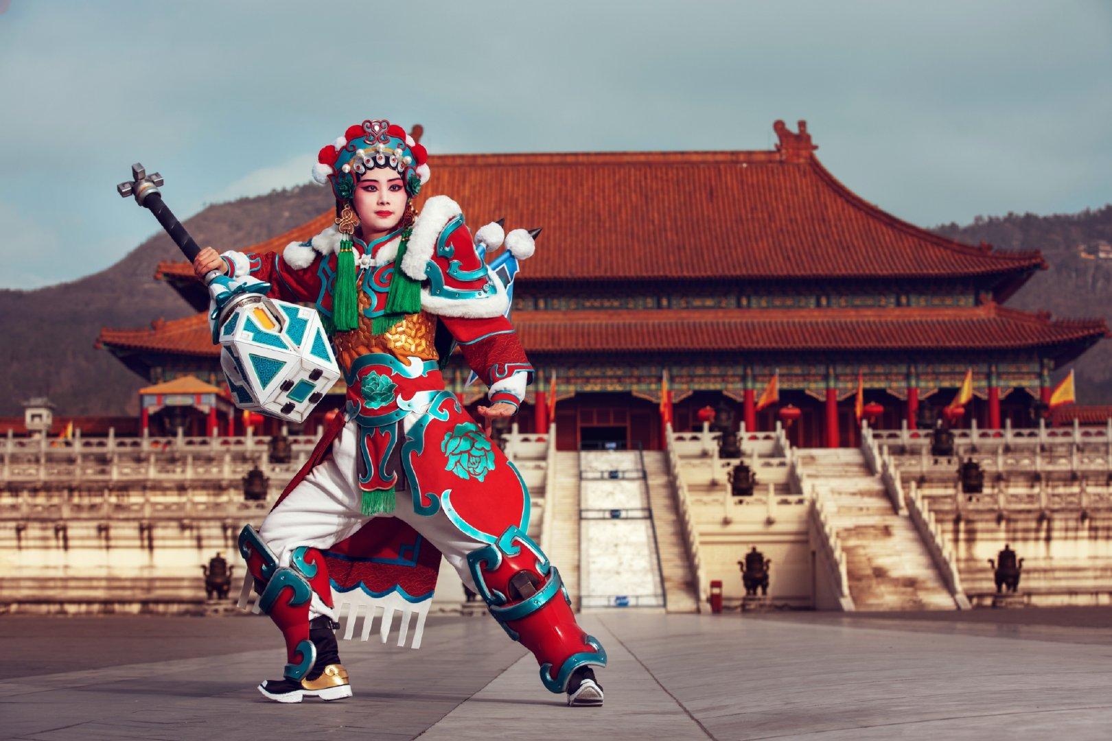 Overwatch Brigitte Lunar New Year Opera skin cosplay