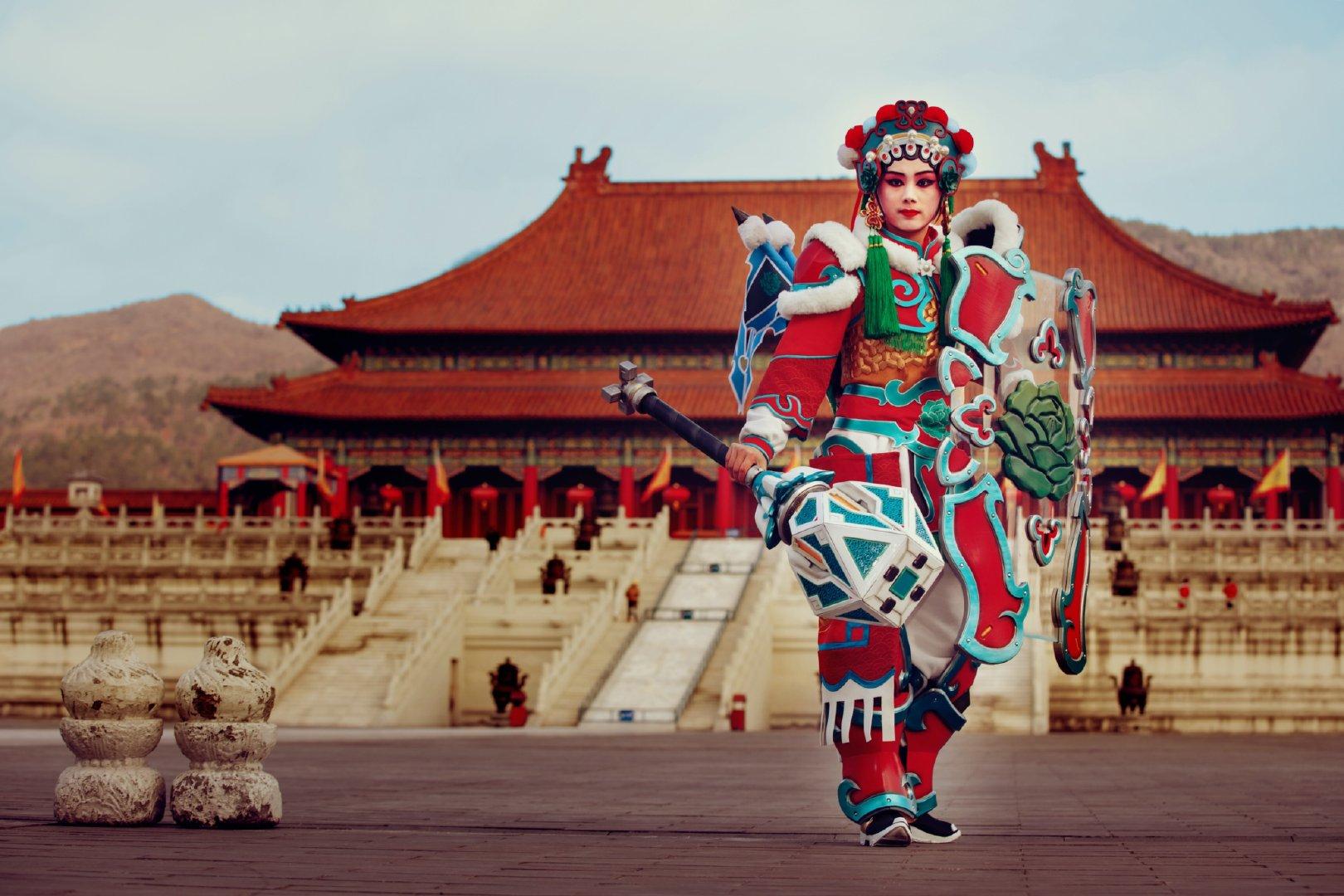 Brigitte Overwatch Lunar New Year Opera skin cosplay
