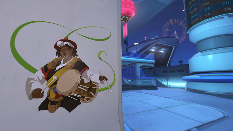 Overwatch Lunar New Year Lucio spray