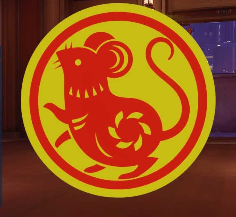Year of the Rat Blizzard Overwatch spray