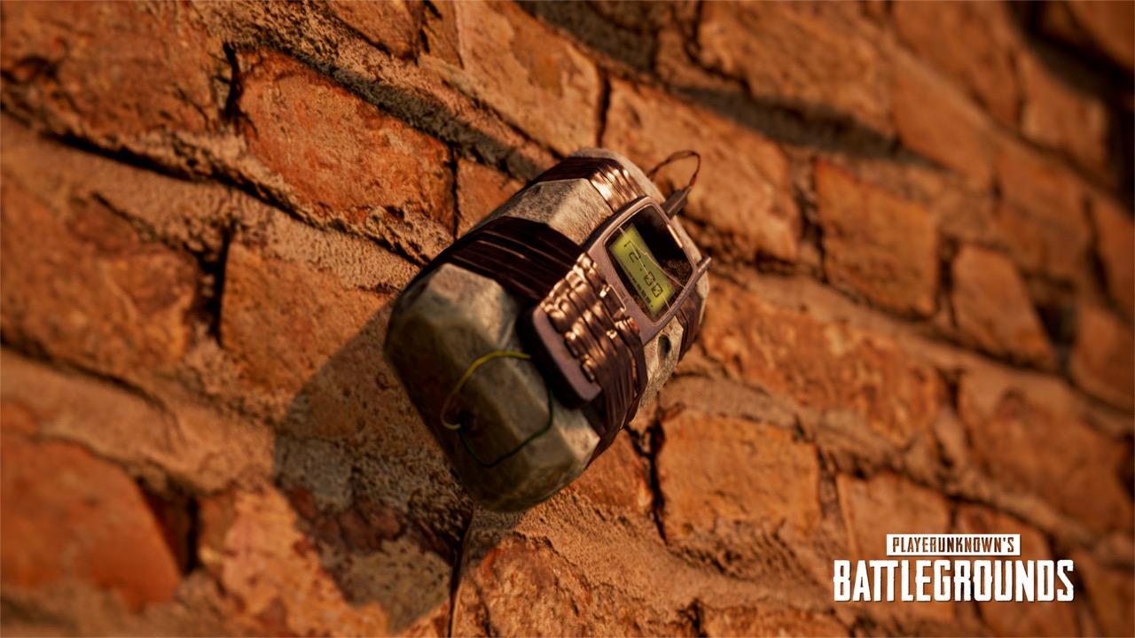 Sticky bomb on a wall in Karakin