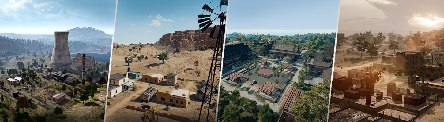Gallery of PUBG maps