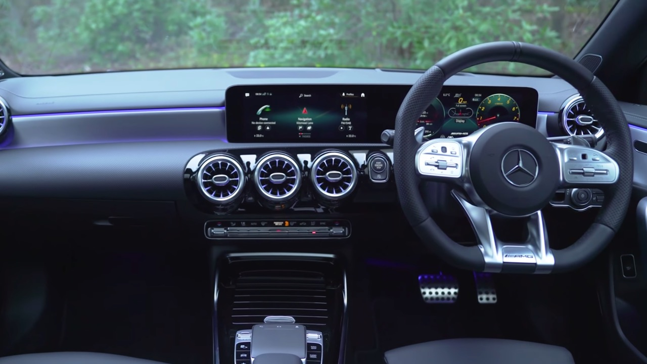 Interior of Mercedes-AMG CLA 35