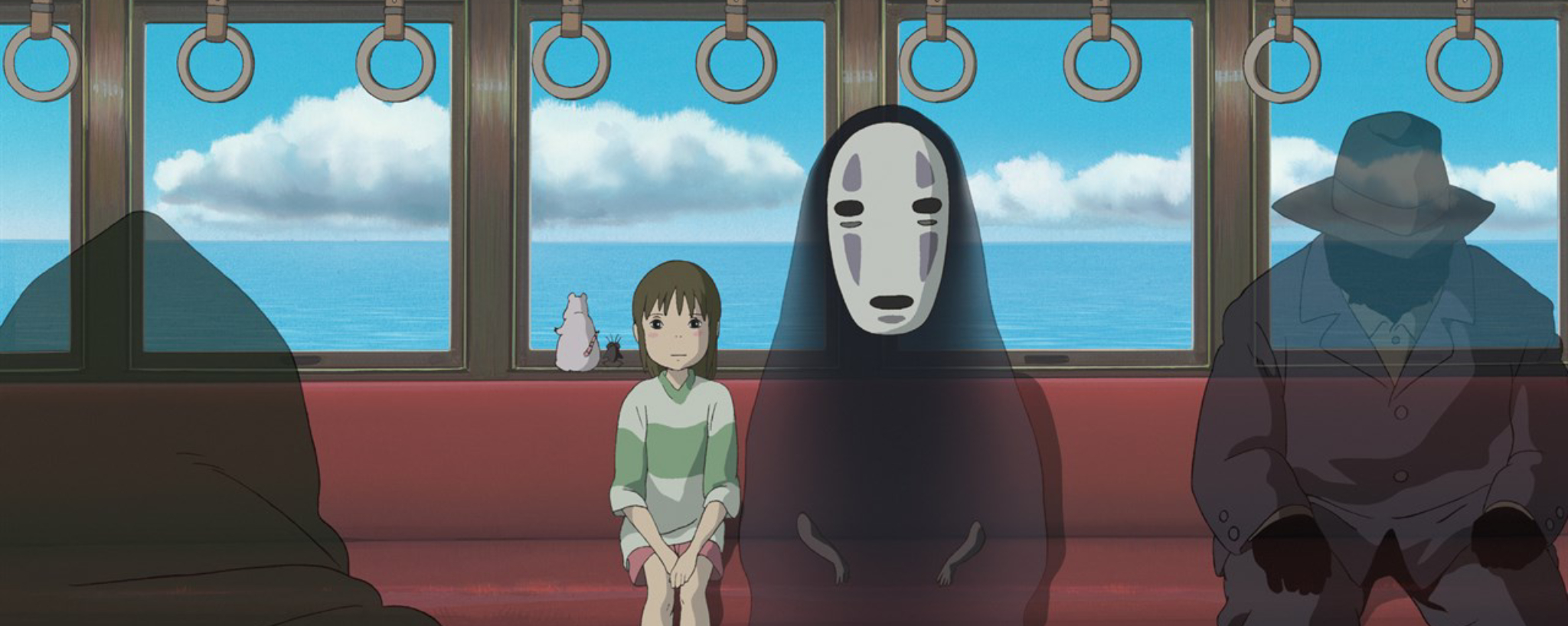 Chihiro and No Face on the bus