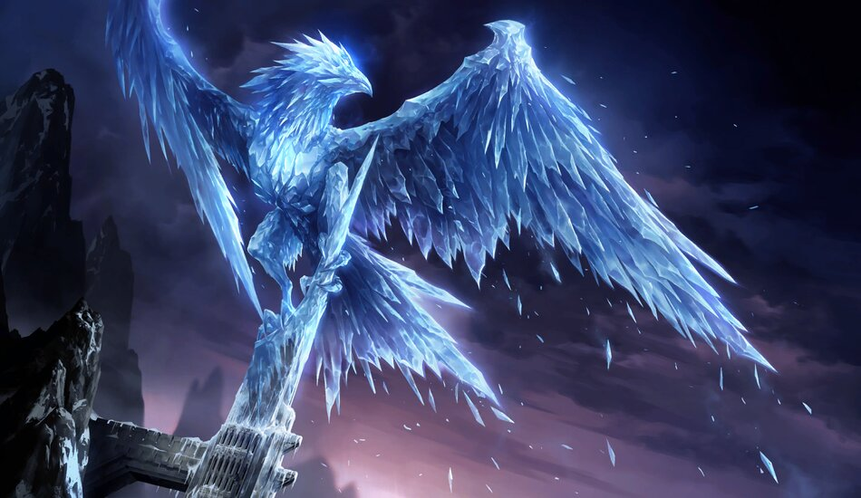 Anivia splash art in Legends of Runeterra