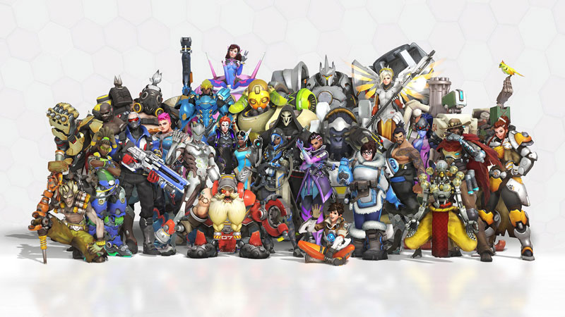 All Overwatch heroes