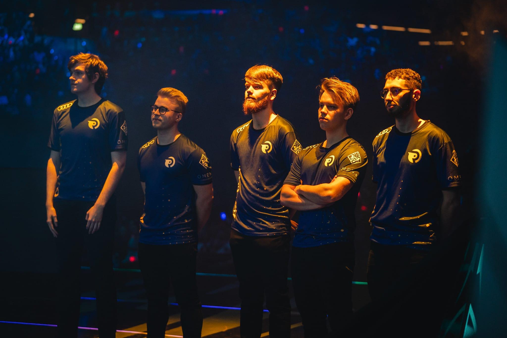 Origen's League of Legends squad at the LEC Spring Final 2019.