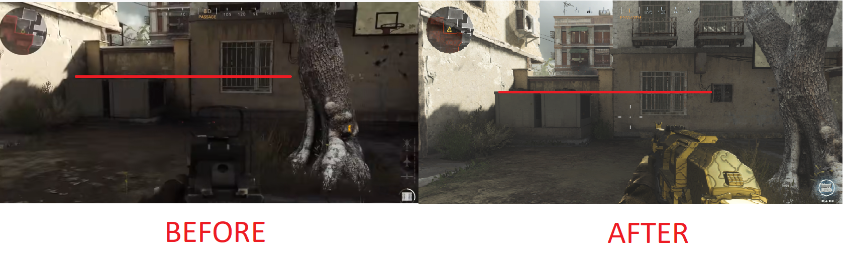 An image showing the changes made to Call of Duty: Modern Warfare.