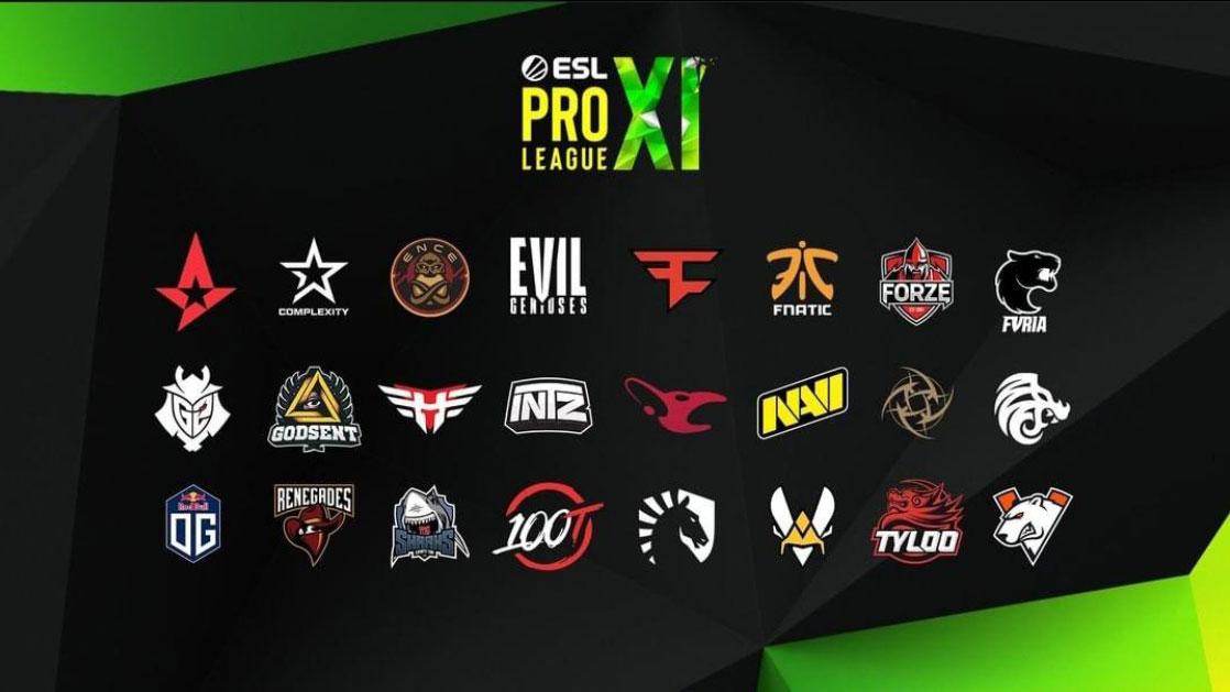 ESL Pro League season 11 CSGO teams