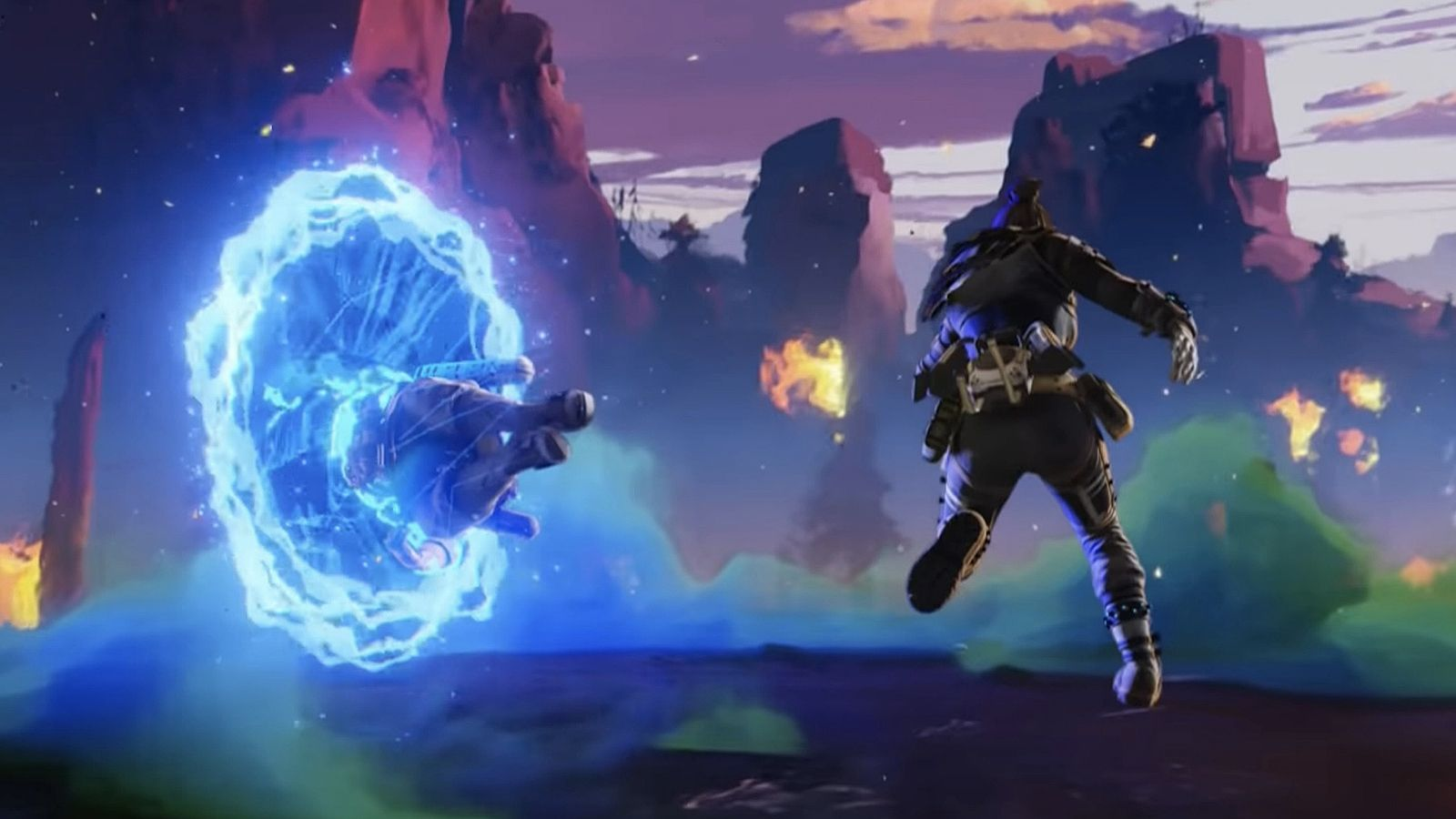 Wraith using her ultimate ability in Apex Legends.