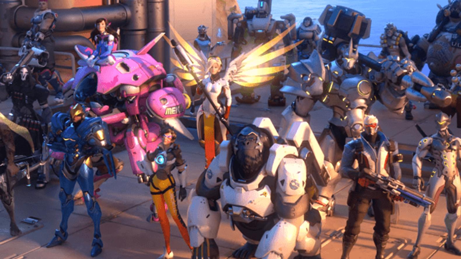 Overwatch heroes posing