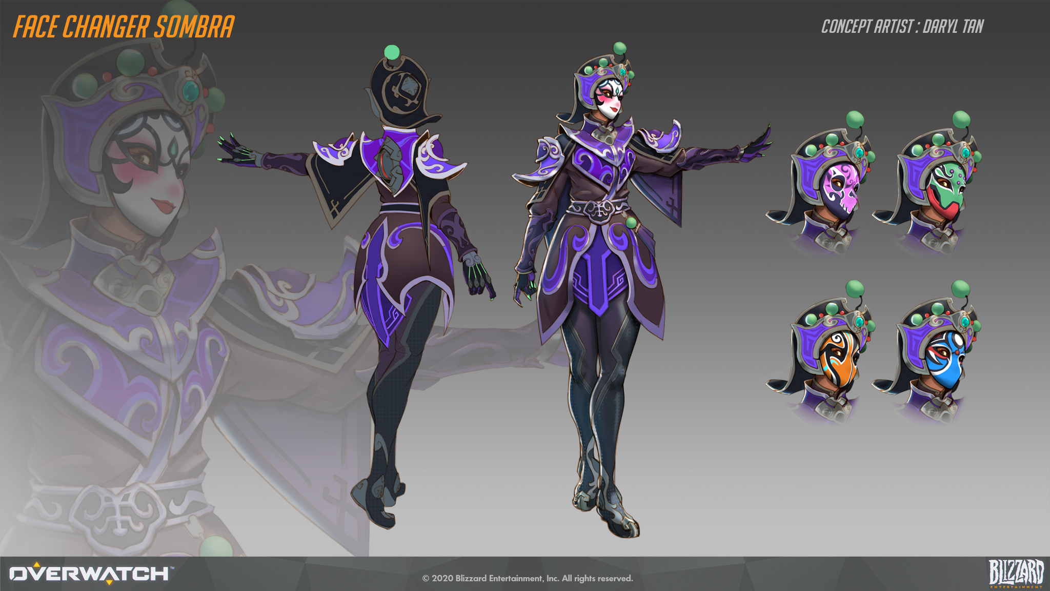 Face Changer Sombra Concept Art for Overwatch