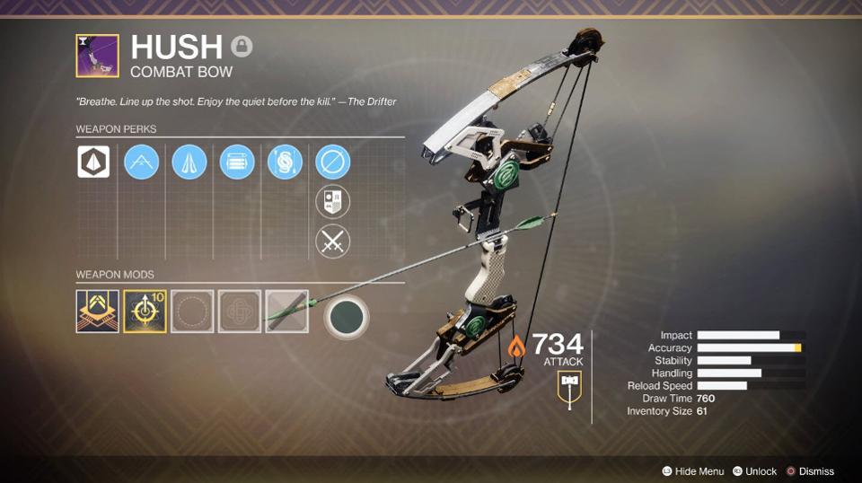 Hush Bow Destiny 2