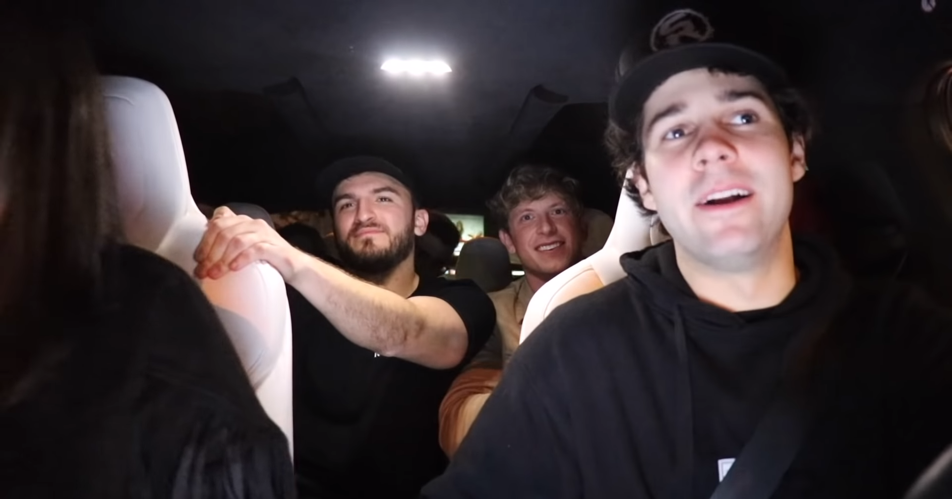 David Dobrik driving in YouTube vlog