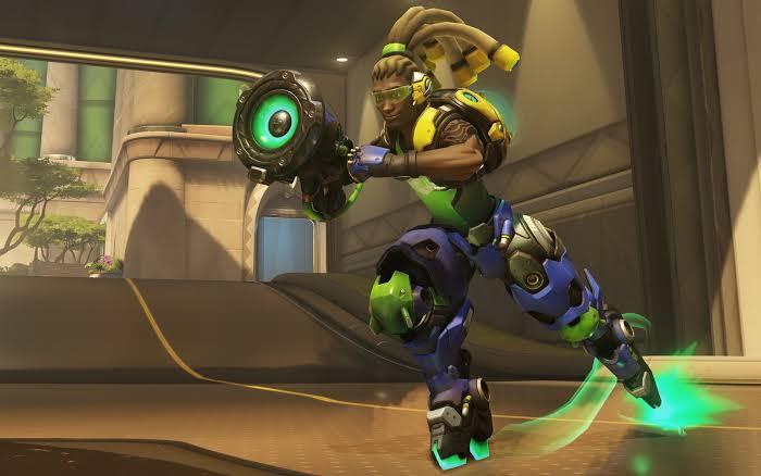 Overwatch's Lucio speeding into battle.