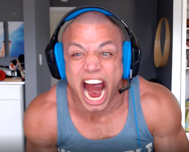 Tyler1 screaming on Twitch stream
