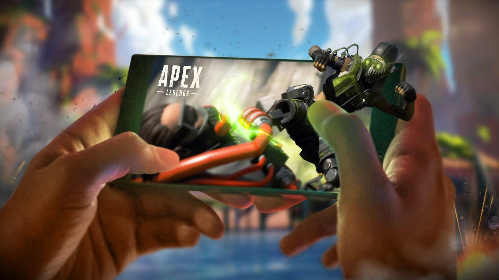 Playing Apex Legends on an iPhone