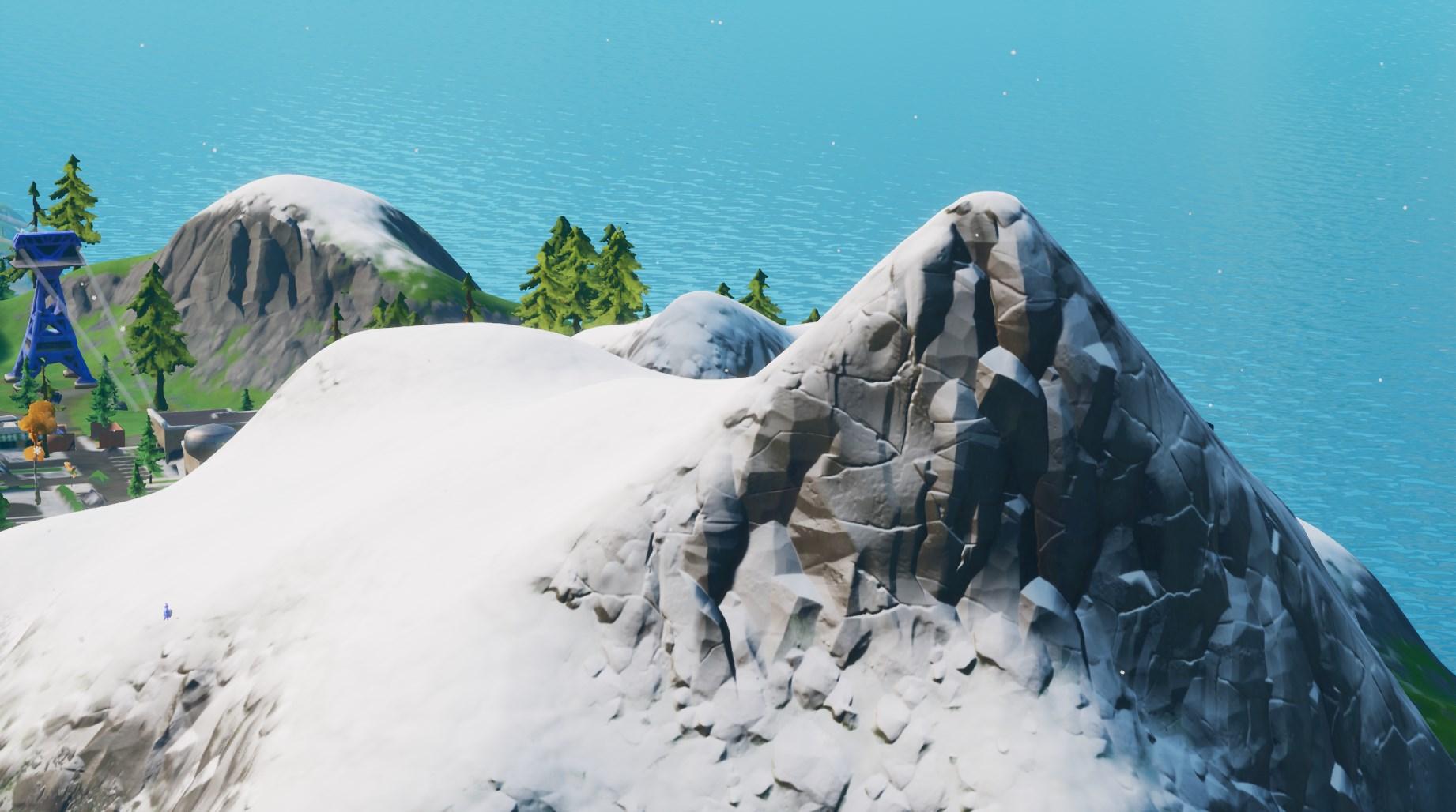 A mountain range in Fortnite Chapter 2, Season 1.