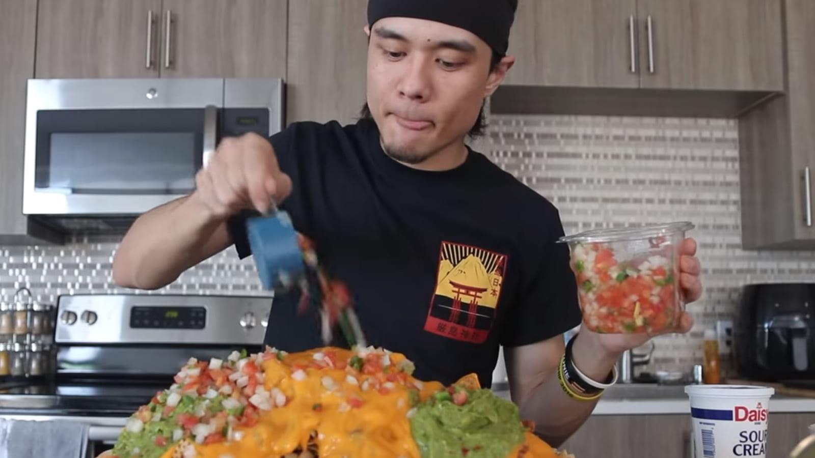 youtube matt stonie nachos super bowl