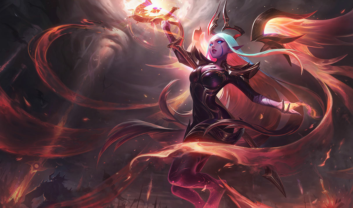 Nightbringer Soraka skin for League of Legends