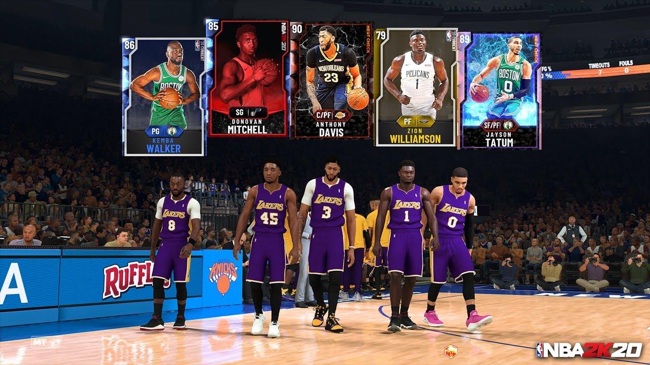 NBA 2k20 in game