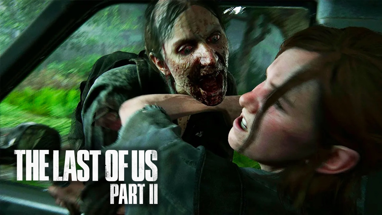 Ellie attacked by Infected in TLOU Part 2